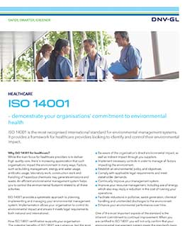 ISO 14001 for healthcare