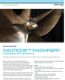 Nauticus Machinery Controllable Pitch Mechanism