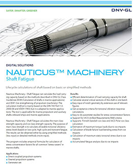 Nauticus Machinery Shaft Fatigue