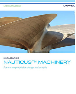 Nauticus Machinery software for marine propulsion design and analysis
