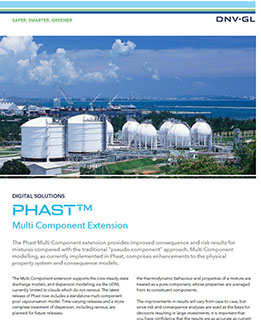 Phast Multi-Component-Extension software enabling rigorous modelling of mixtures in Phast