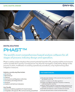 Phast software for hazard analysis in the process industries